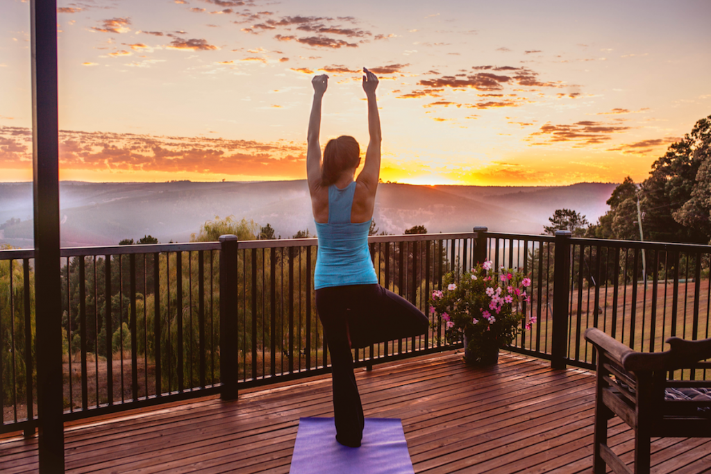 Sunrise Yoga on the deck